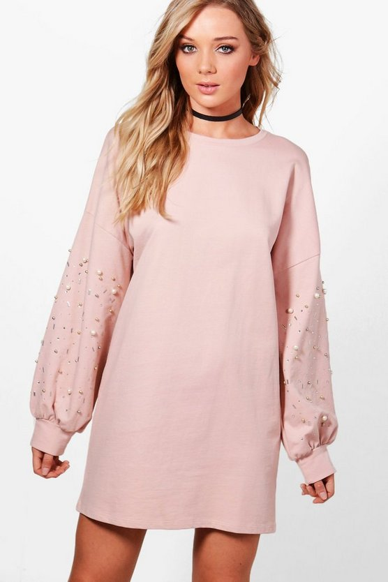 Hanna Embellished Pearl Dress