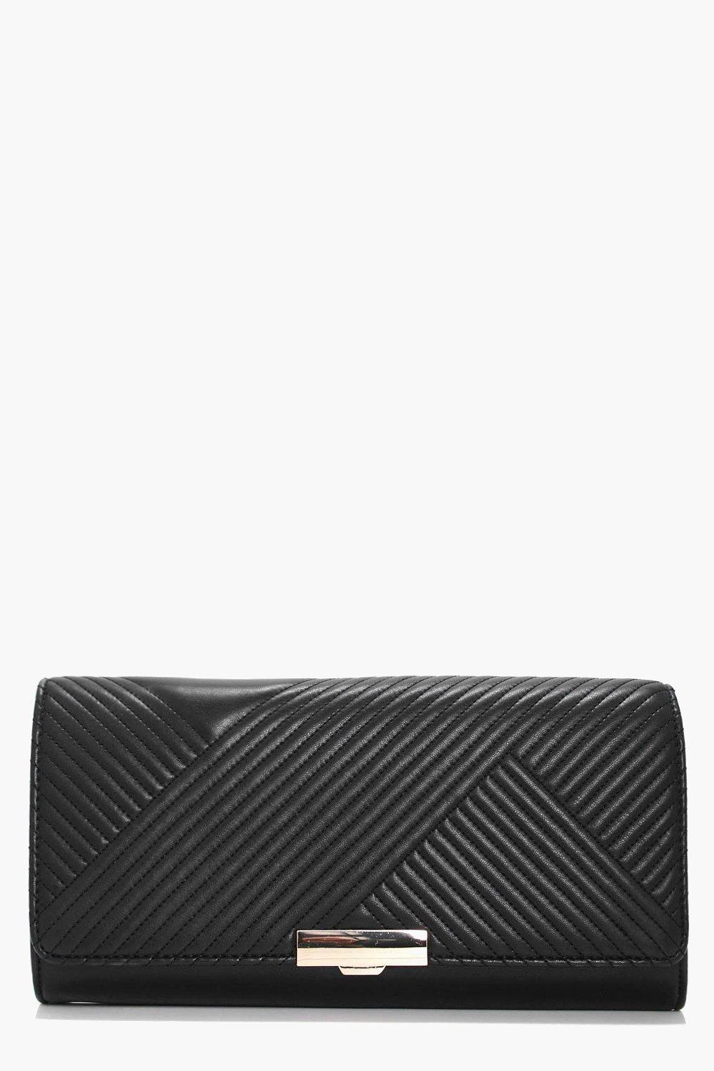 Quilted Clutch - black - Hannah Quilted Clutch - b