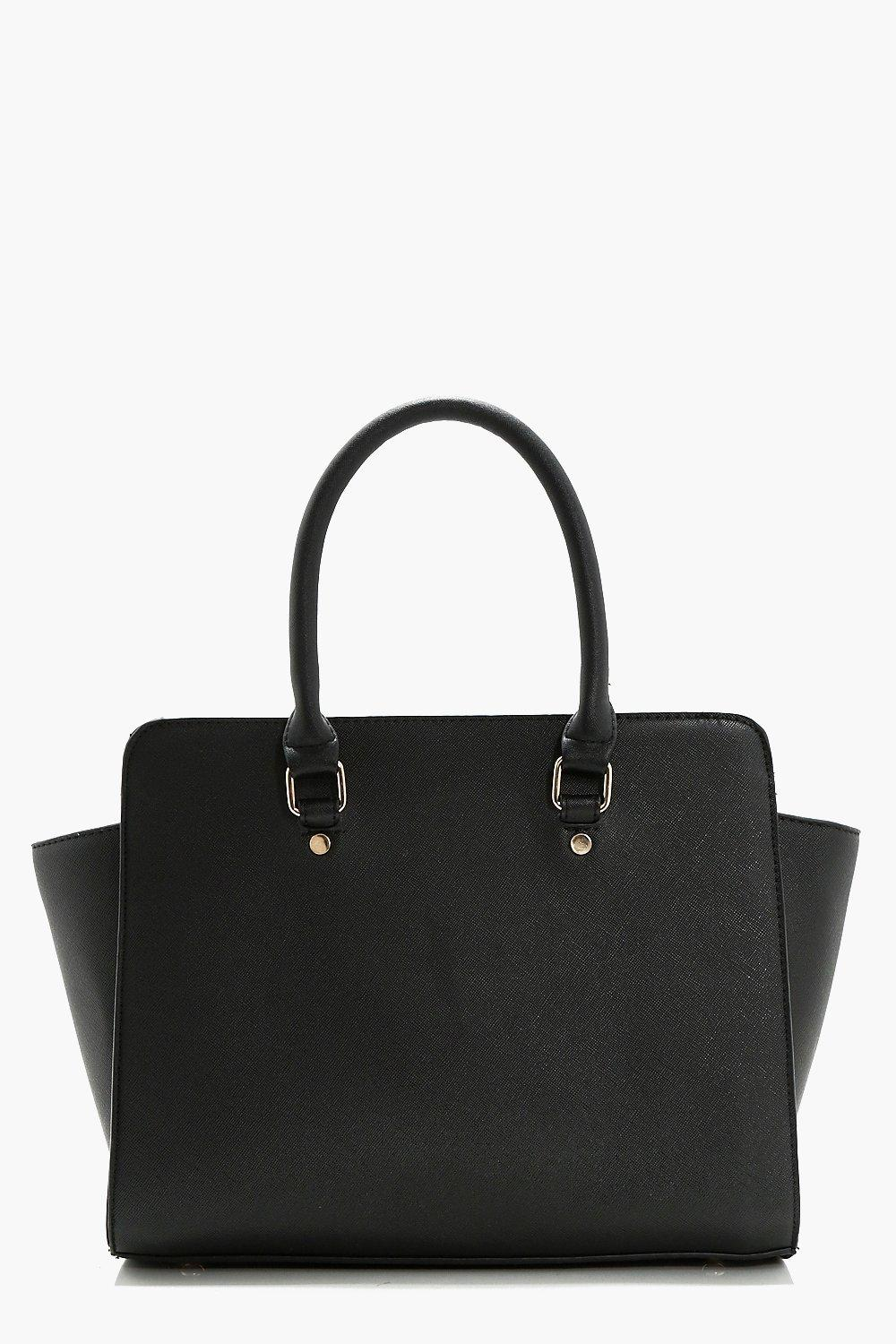 Mini Winged Tote - black - Lexi Mini Winged Tote -