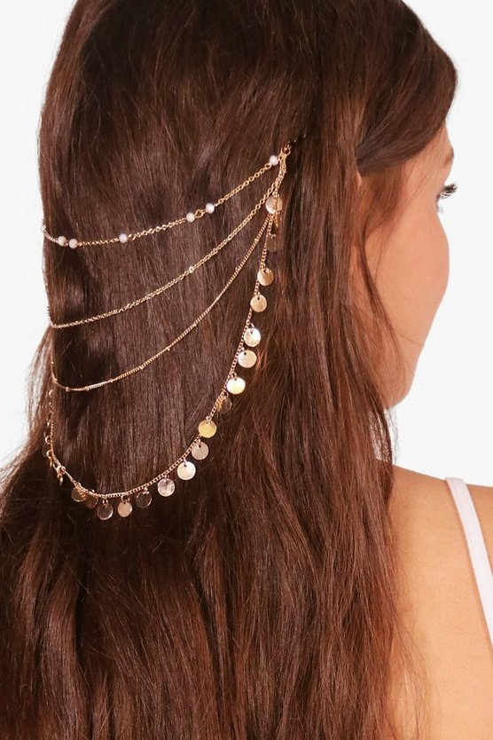 Hayleigh Coin Layered Hair Chain