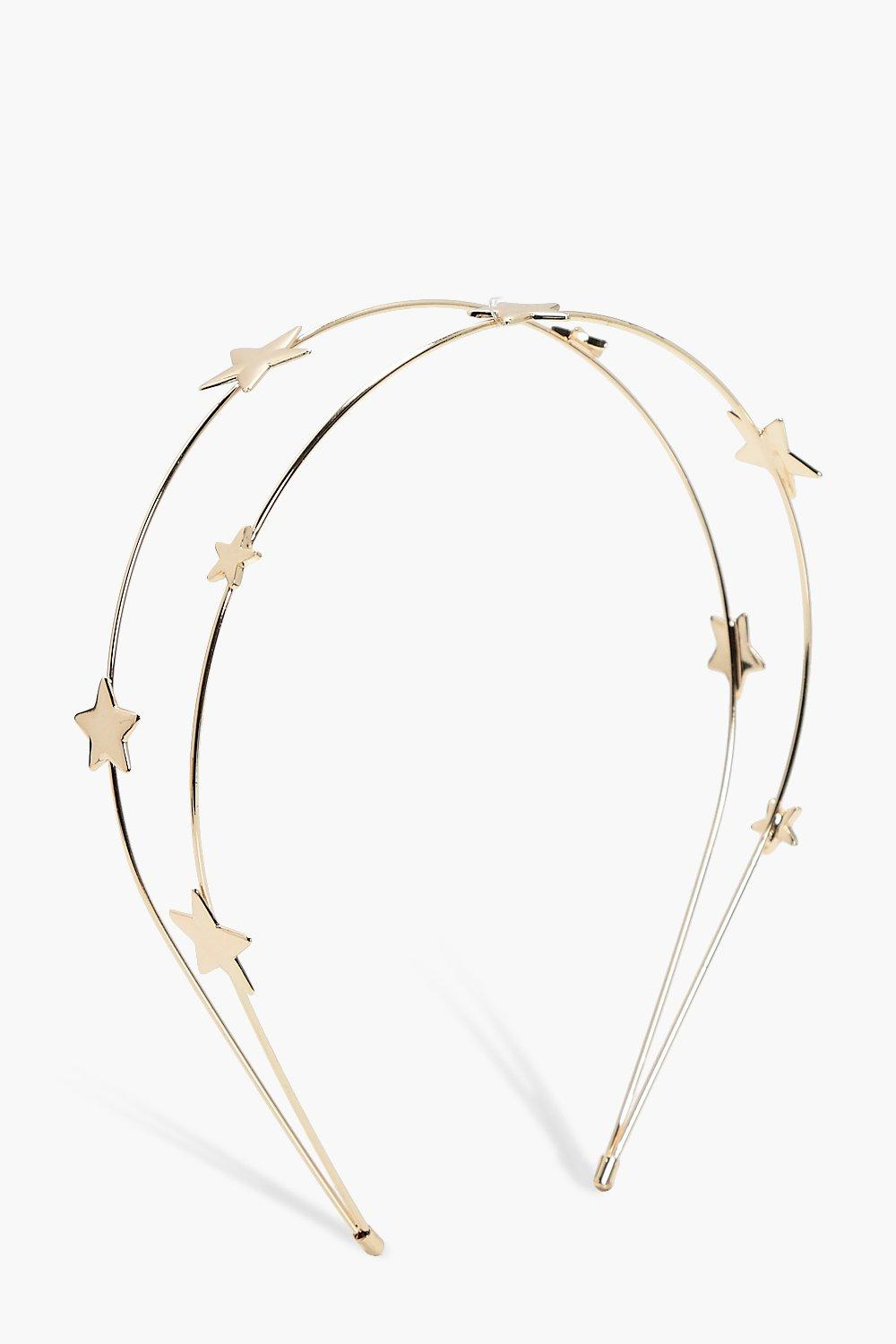 Star Double Row Headband - gold - Anna Star Double