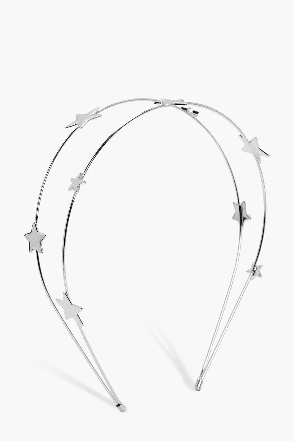 Star Double Row Headband - silver - Anna Star Doub