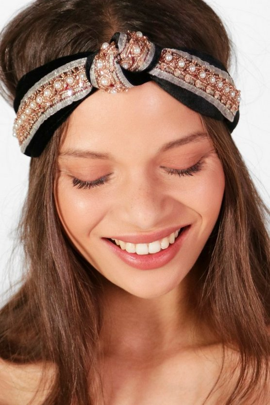 Ava Twist Knot Embellished Turban Headband