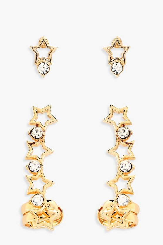 Hollie Star Cuff and Studs Set