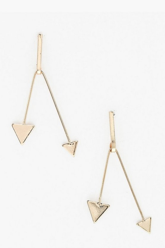 Bella Triangle Bar Drop Earrings