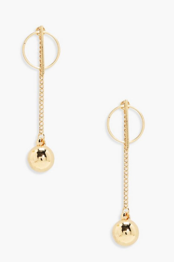 Libby Bar Hoop and Bead Drop Earrings