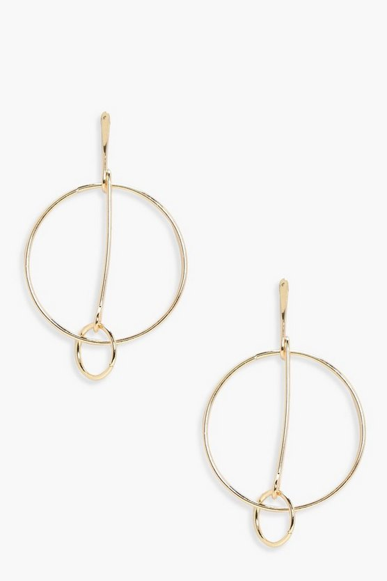 Tilly Double Hoop Bar Earrings A