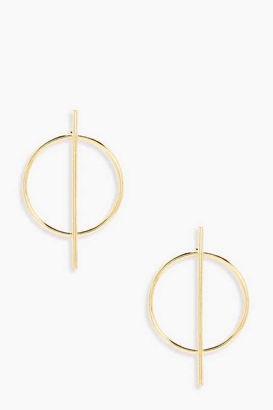 Hollie Hoop Bar Earrings