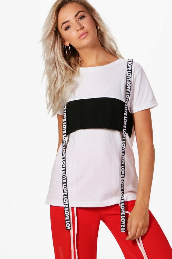 Charlie Tape Detail Oversized Tee