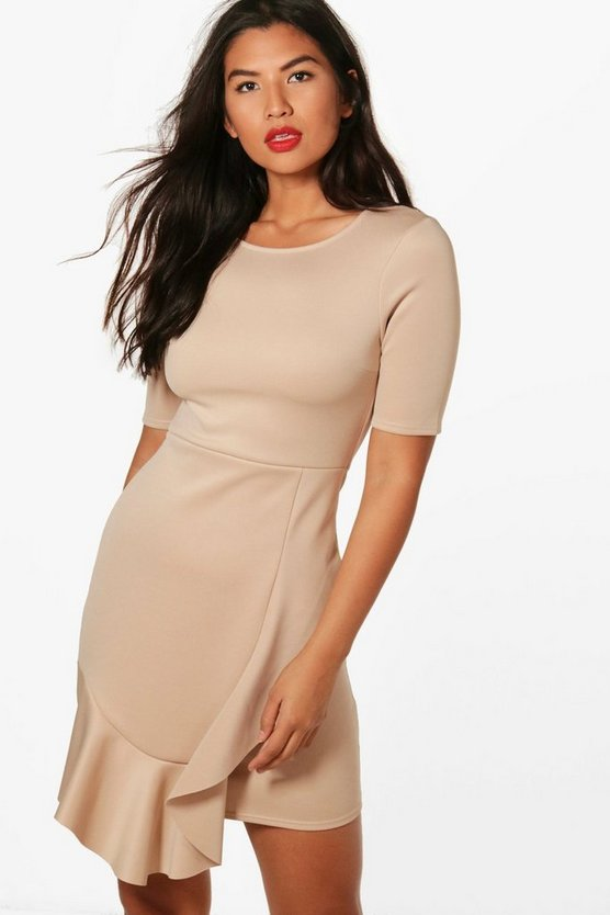 Freya Ruffle Hem Tailored Dress