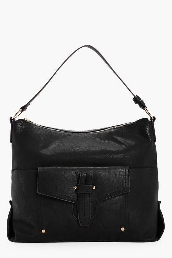 Molly Fold Over Detail Bucket Bag