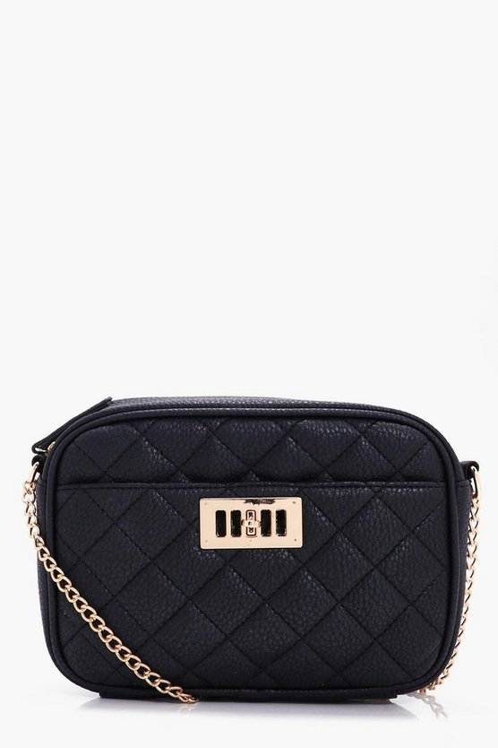 Yasmin Lock Detail Camera Cross Body Bag
