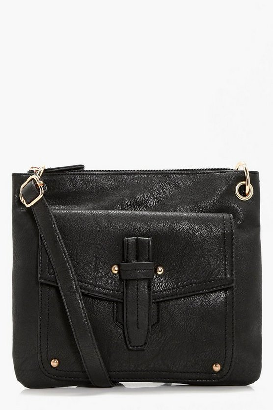 Emily Fold Over Detail Cross Body Bag
