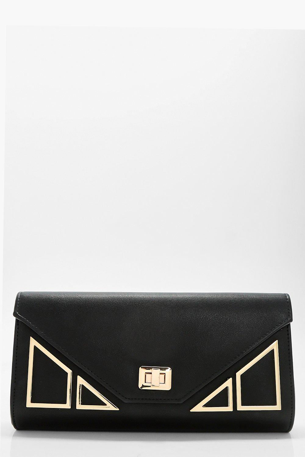 Geo Hardware Clutch - black - Lily Geo Hardware Cl