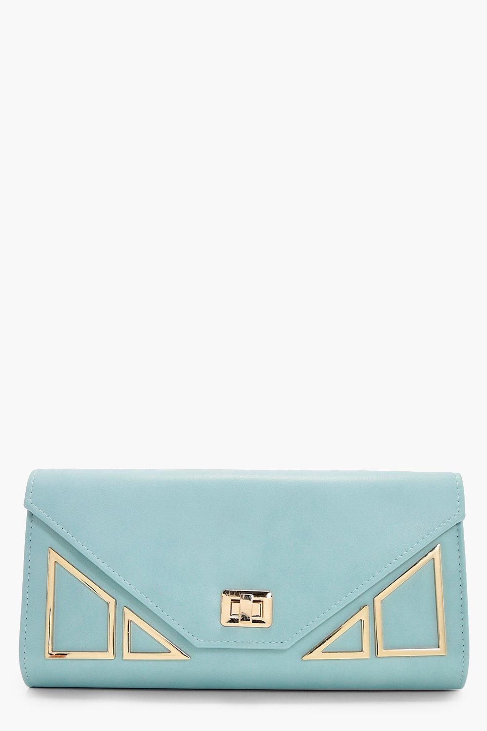 Geo Hardware Clutch - blue - Lily Geo Hardware Clu