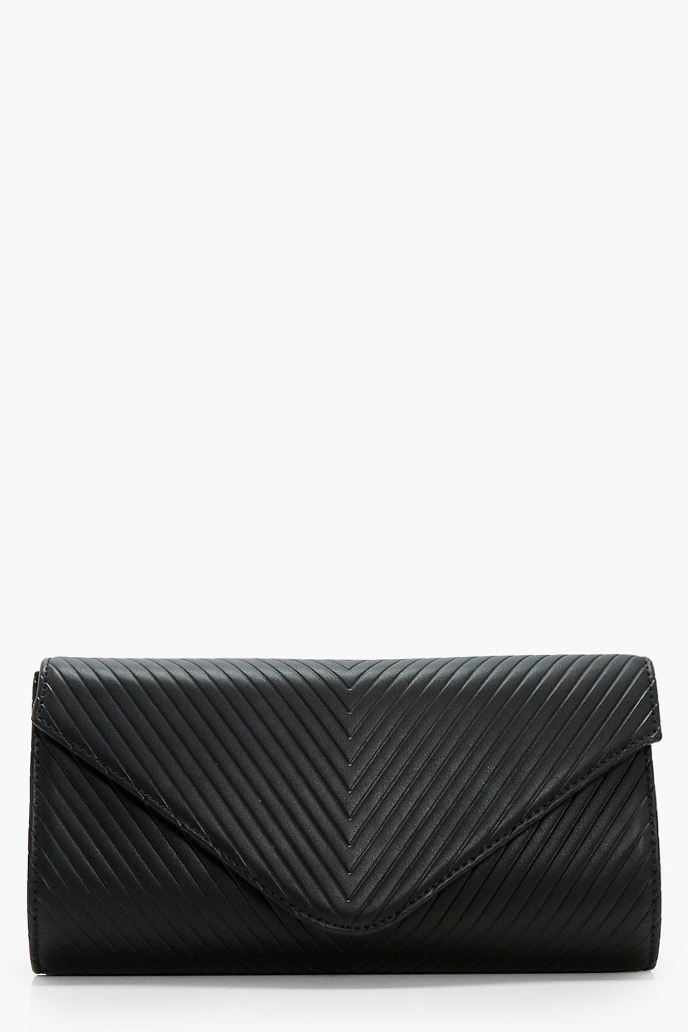 Quilted Clutch - black - Amy Quilted Clutch - blac