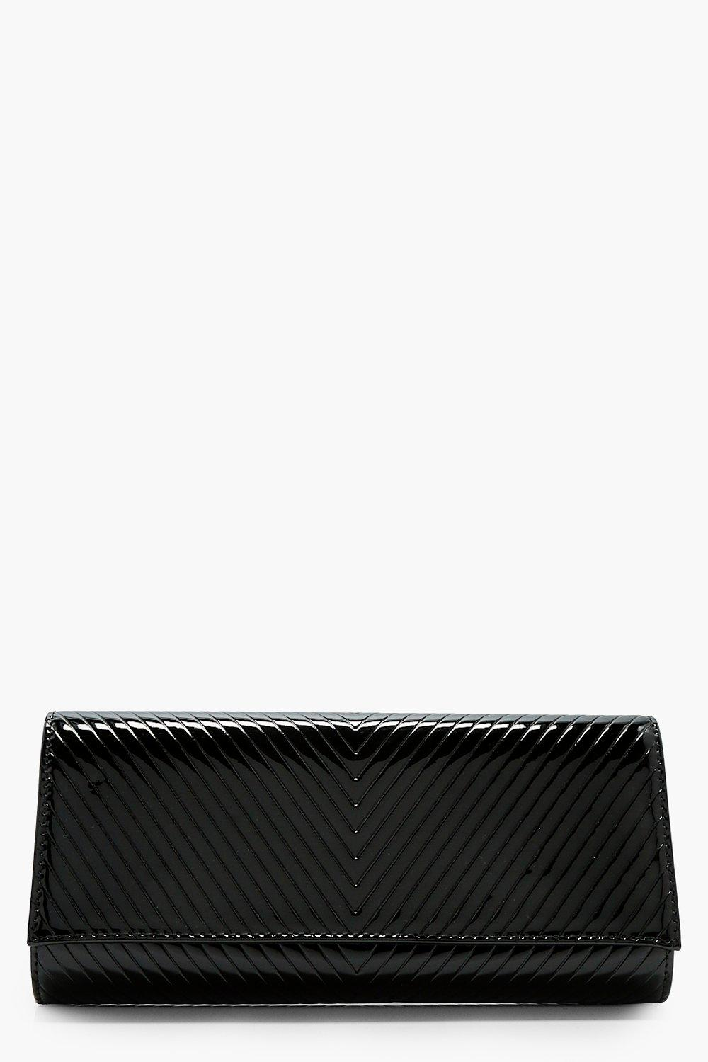 Patent Quilted Clutch - black - Amy Patent Quilted