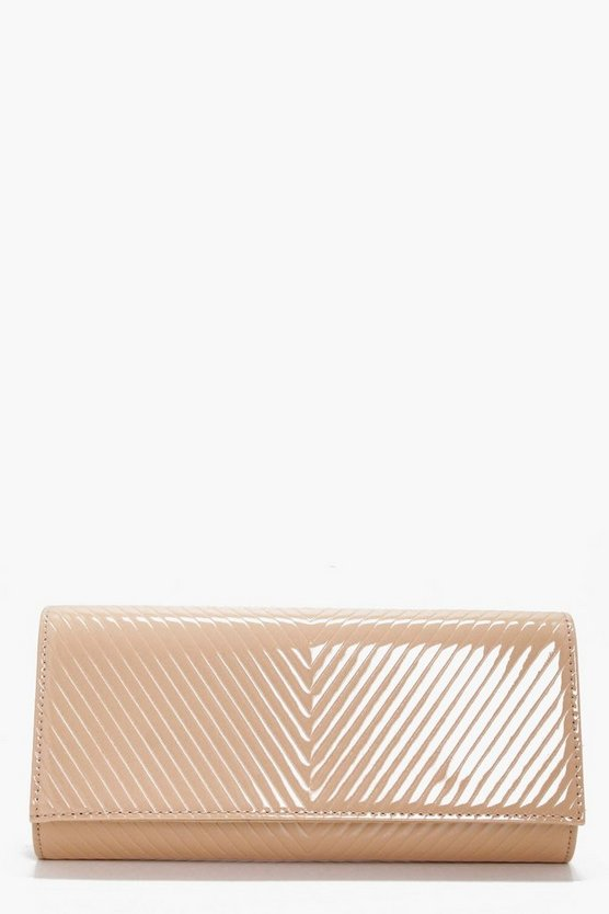 Amy Patent Quilted Clutch