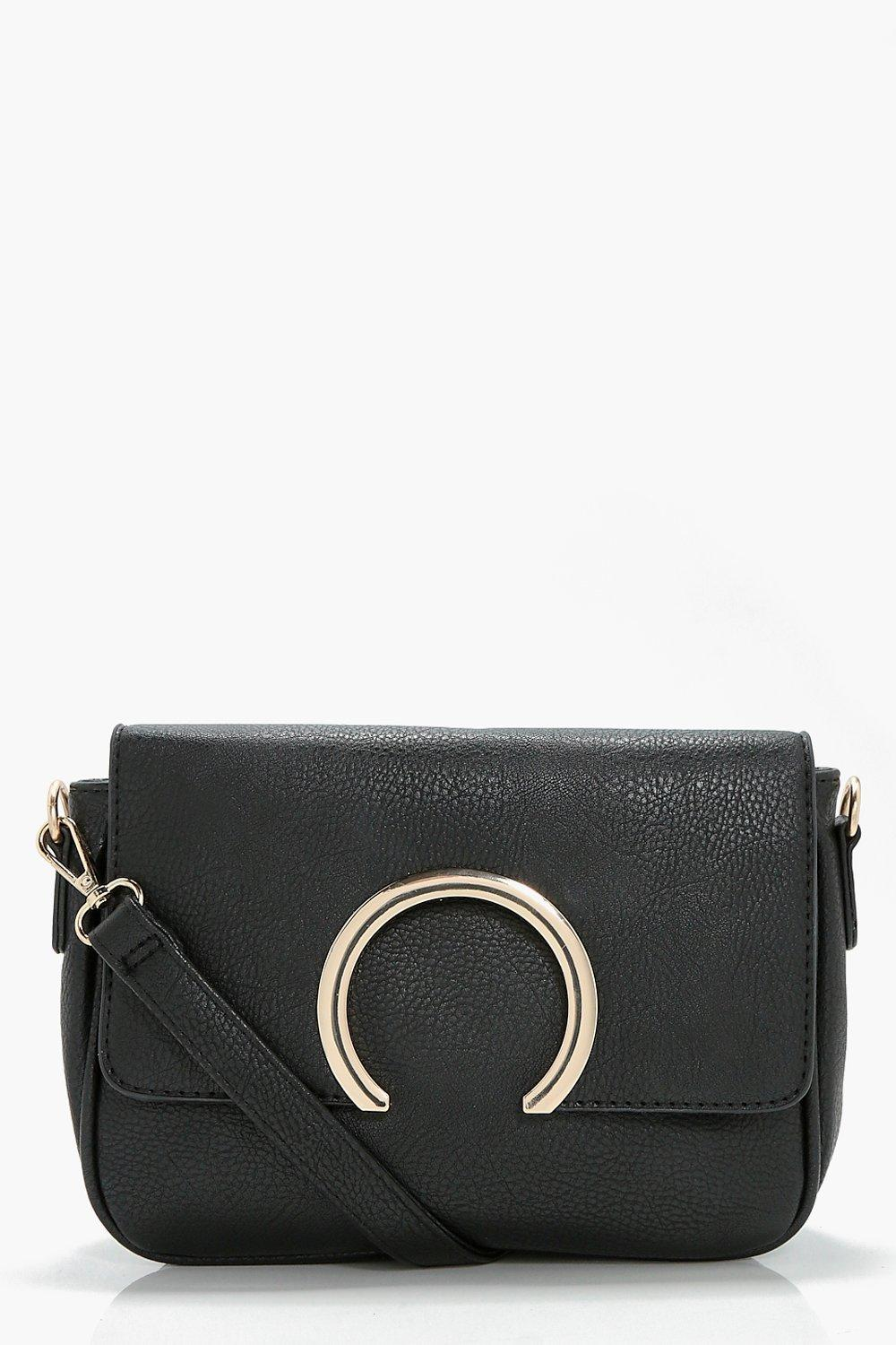 Metal Ring Cross Body - black - Abbie Metal Ring C
