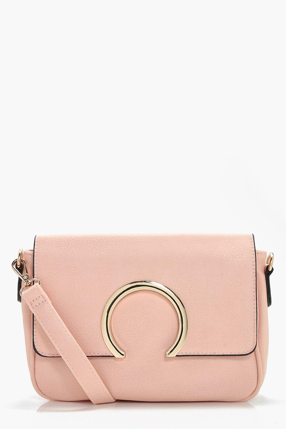 Metal Ring Cross Body - pink - Abbie Metal Ring Cr