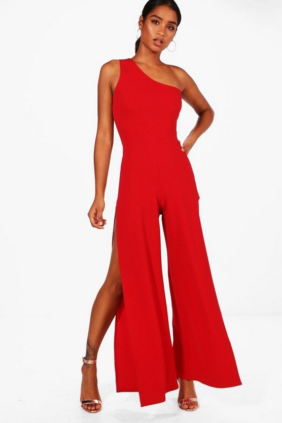 Monica One Shoulder Split Leg Jumpsuit