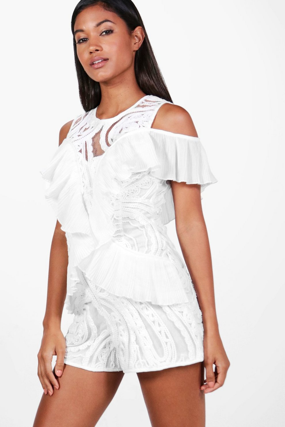 Boohoo Embroidered Boutique Detail Playsuit Clearance Low Shipping Fee Enjoy Cheap Price Cheap Sale Finishline Free Shipping Sneakernews Outlet Best Place mW25RvIaJF