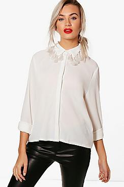 Abbie Tassle Collar Shirt
