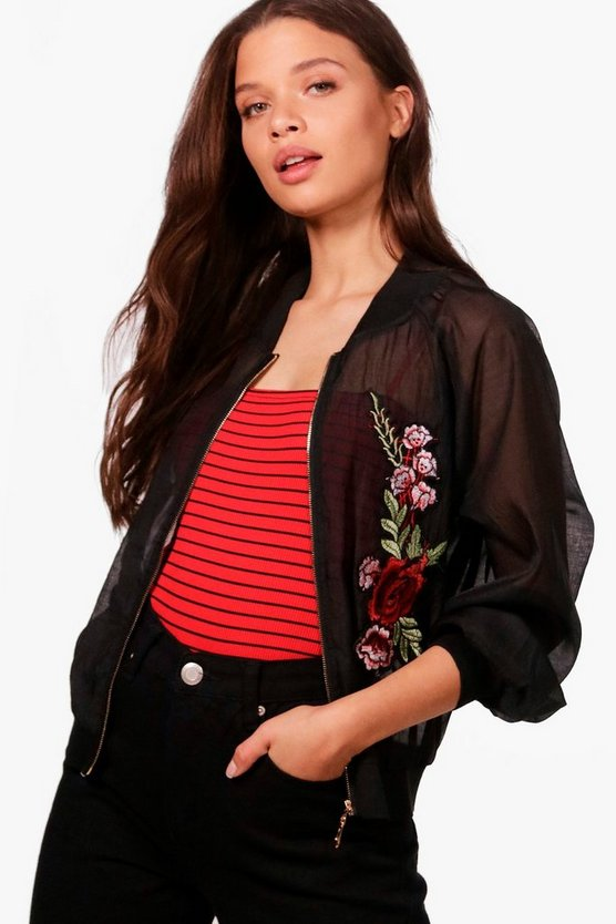 Nadia Rose Embroidered Bomber