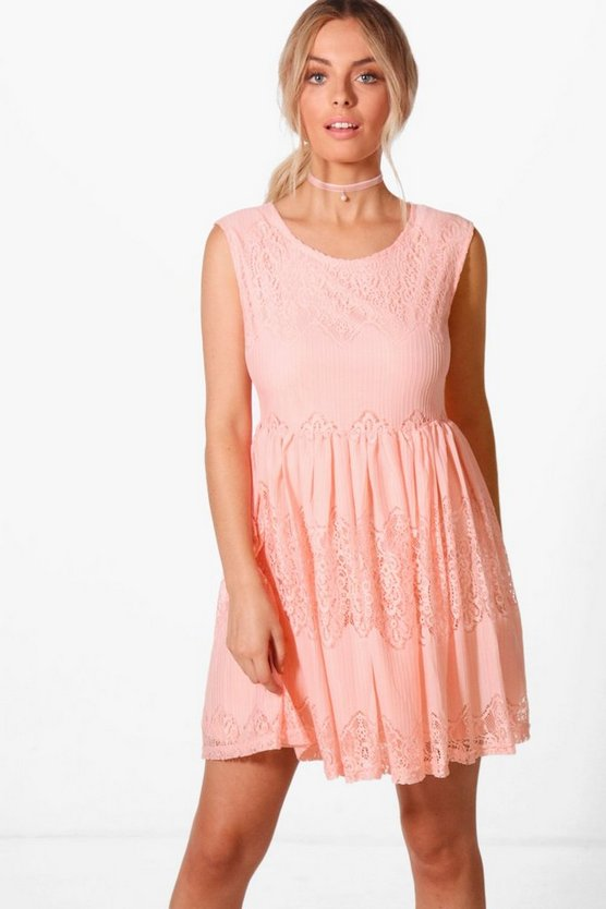 Jodie Lace Skater Dress