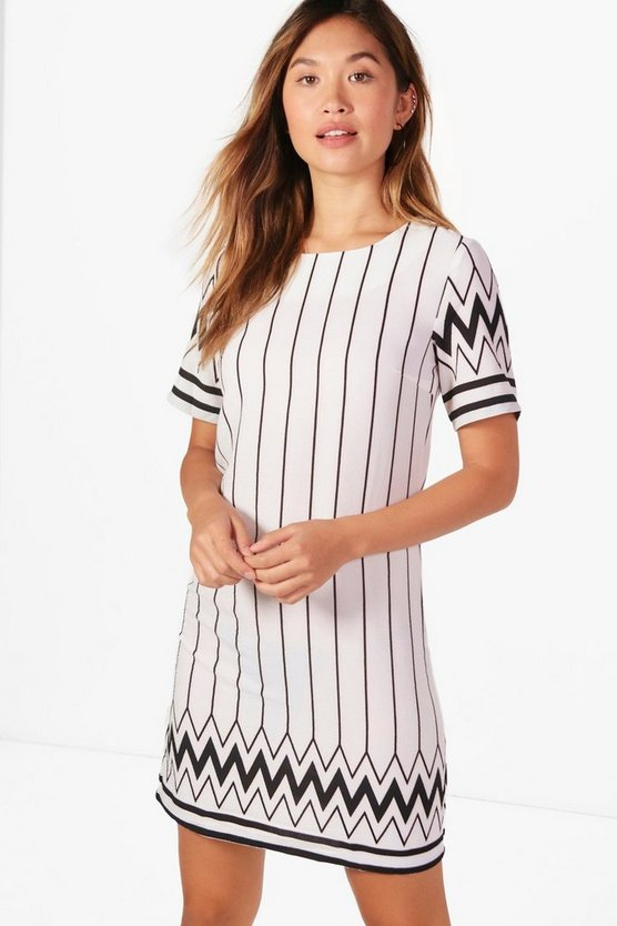 Lucy Printed Shift Dress