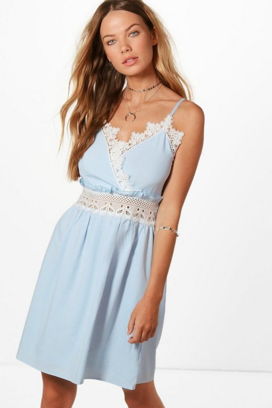 Lola Crochet Lace Skater Dress