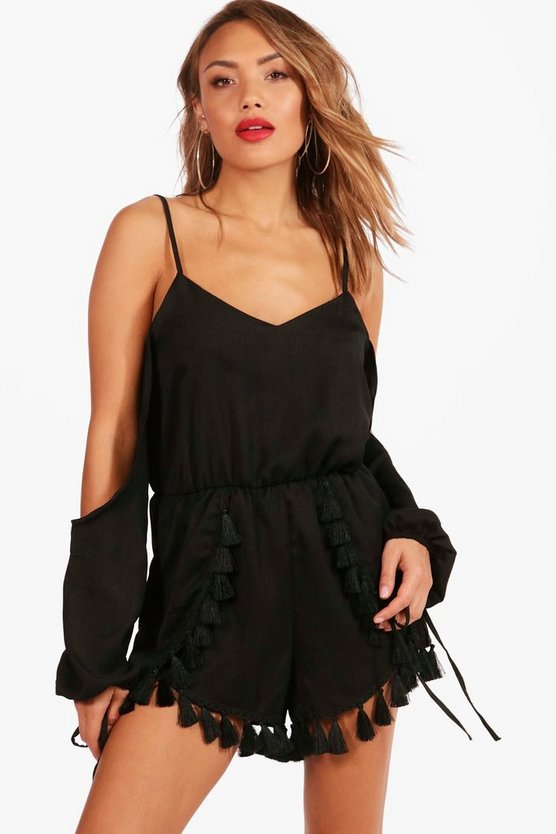 Tassel Trim Playsuit
