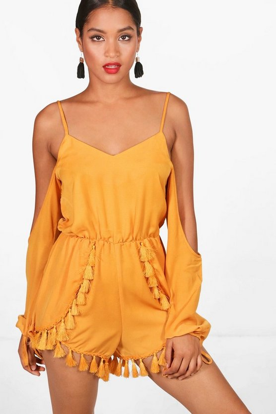 Essie Tassel Trim Playsuit