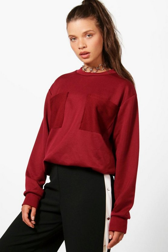 Taylor Patch Pocket Oversized Sweat