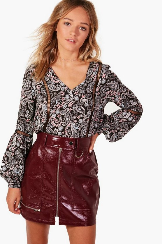 Paisley Crochet Trim Tunic