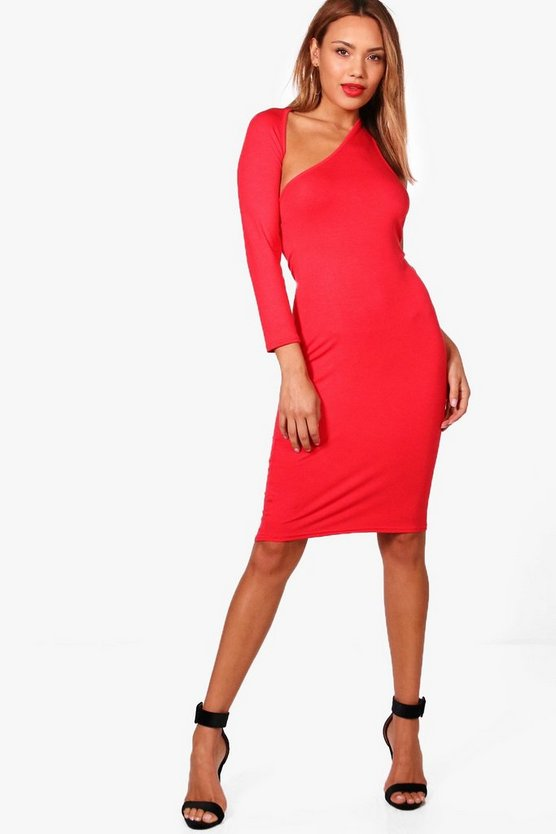 Rosa One Shoulder Midi Dress