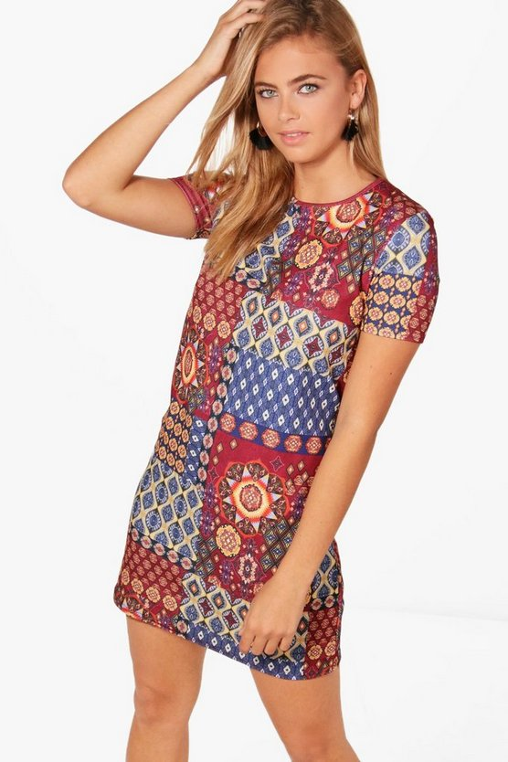 Ashley Geo Print Shift Dress