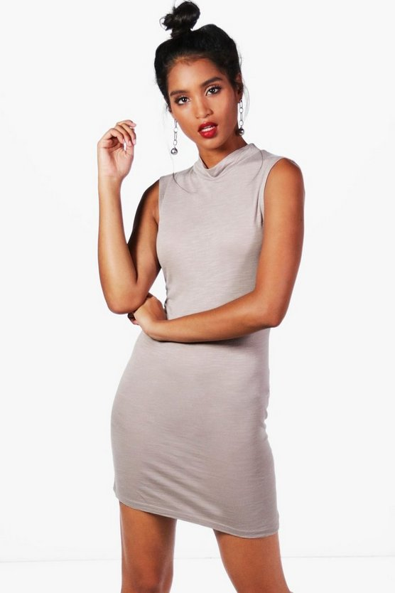 Tayla High Neck Bodycon Dress
