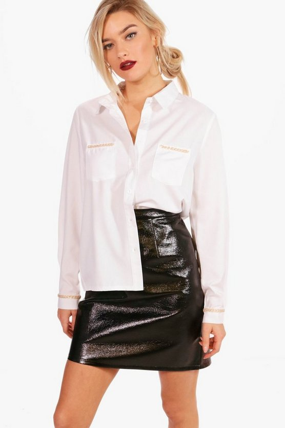 Helena Metal Chain Hardwear Detail Shirt