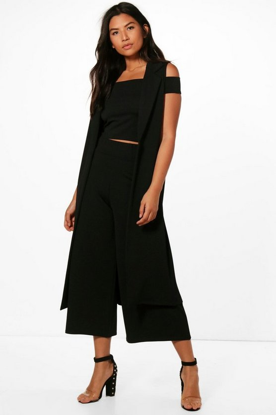 Misa 3PC Culotte & Duster Co-ord Set