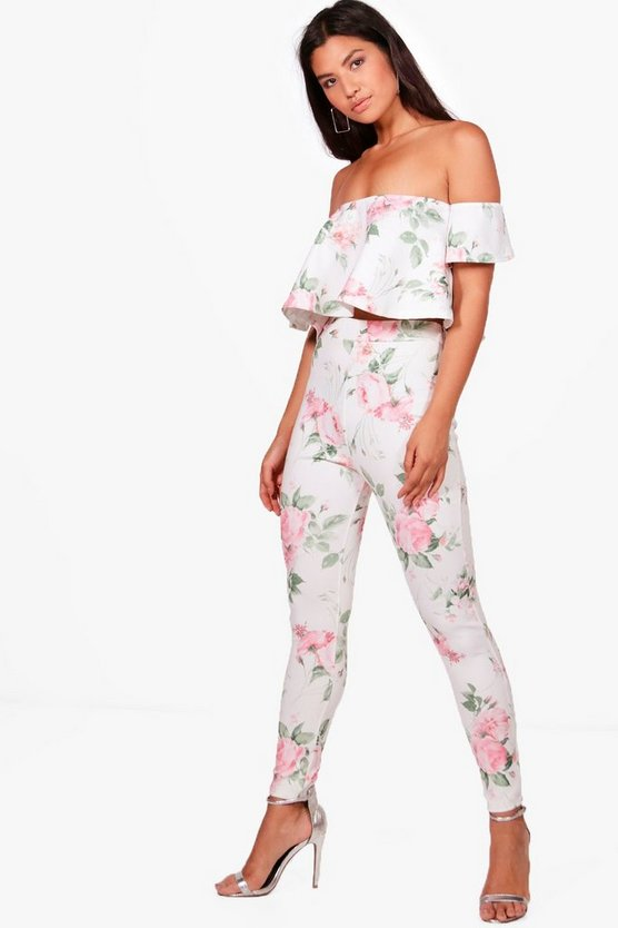 Frankie Floral Top & Trouser Co-ord Set