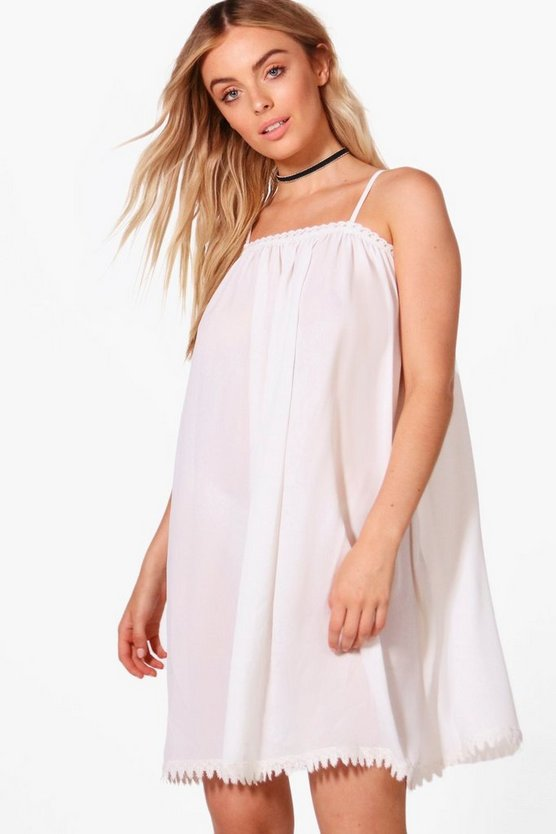 Maisy Lace Trim Swing Dress
