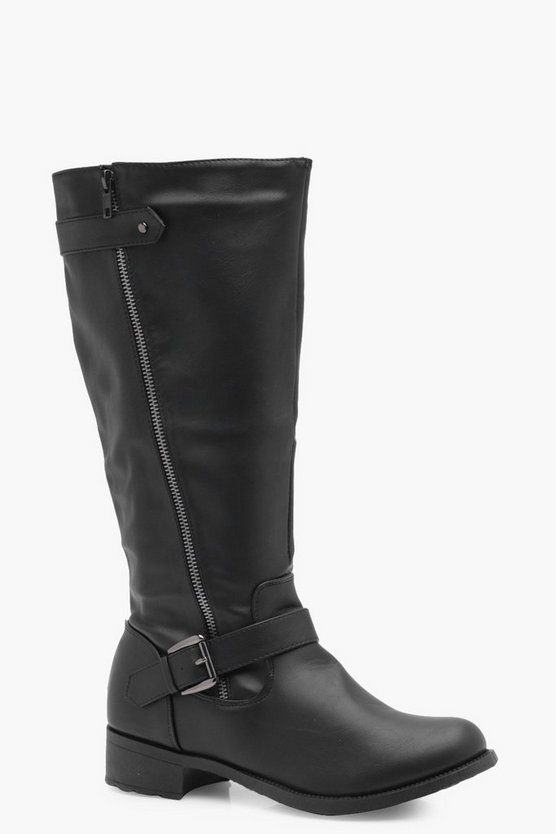 Chantelle Zip Detail Knee High Riding Boot