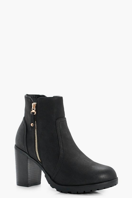 Emmeline Zip Side Heeled Boot