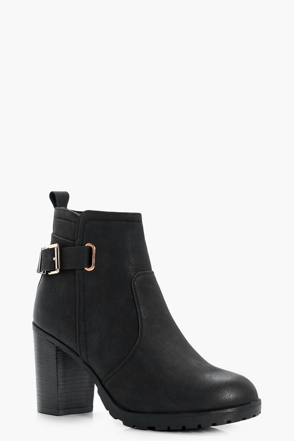 cheap recommend Boohoo Buckle Detail Heeled Boot clearance outlet store deals online discount fake z1Sc5BcO