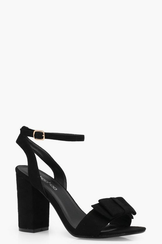 Maisy Bow Trim Block Heels