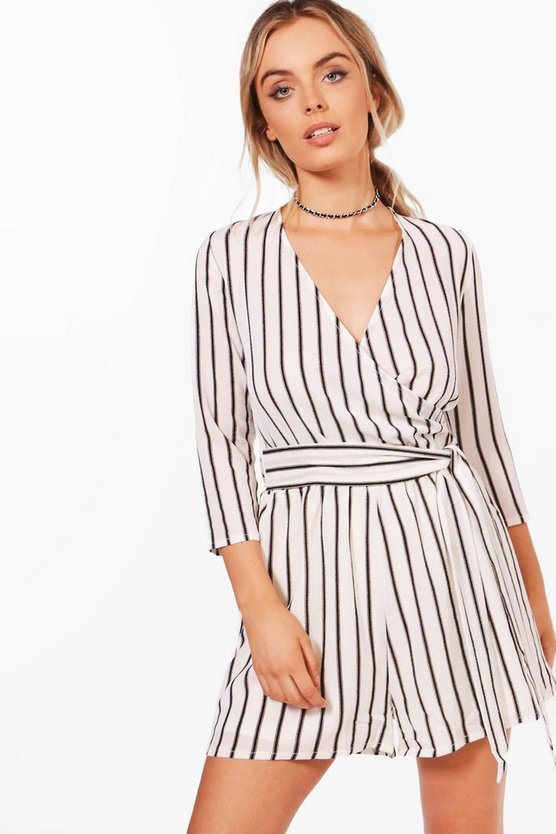 Lenny Strapped Wrap Over Playsuit