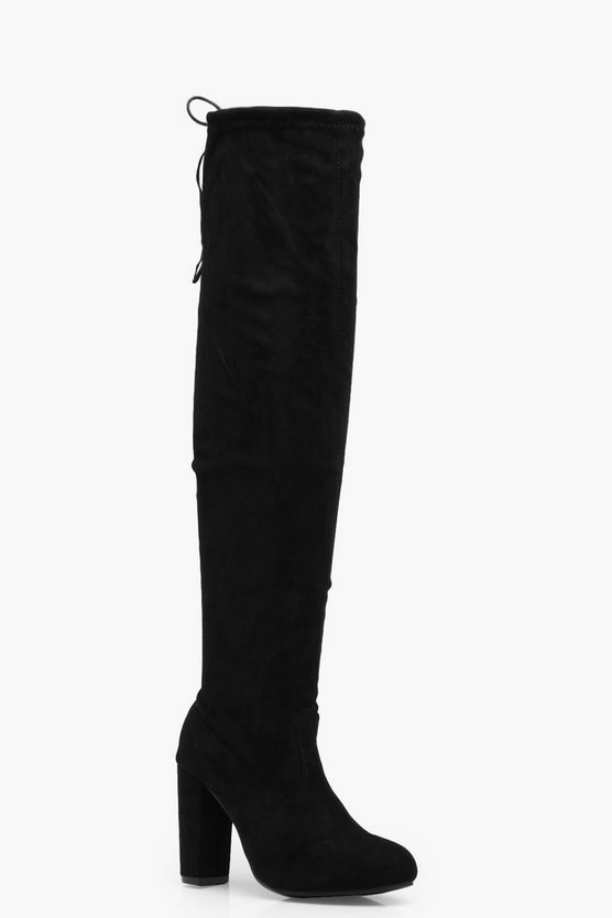 Tanya Tie Back Over The Knee Boot