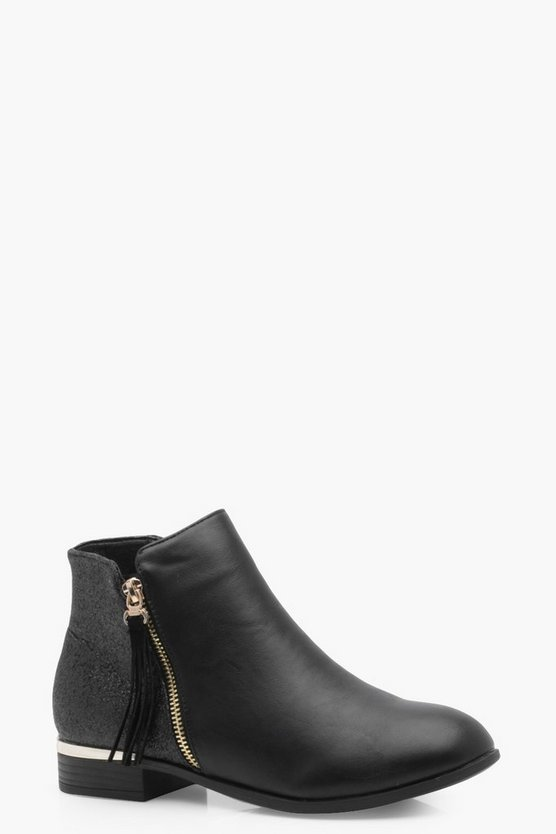 Molly Glitter Back Chelsea Ankle Boot