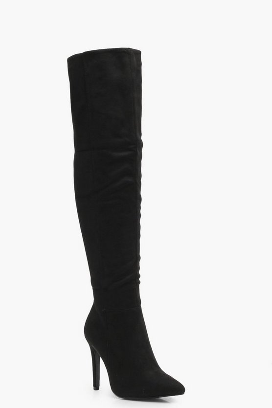Meena Wide Fit Pointed Thigh High Boots